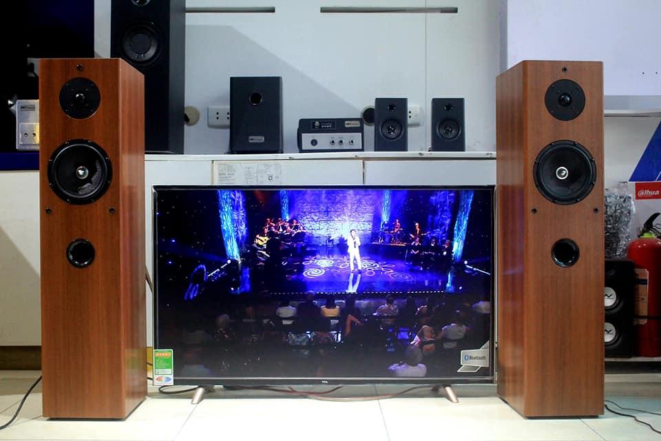 Dàn karaoke W250 đã tích hợp sẵn amly của Goldsound