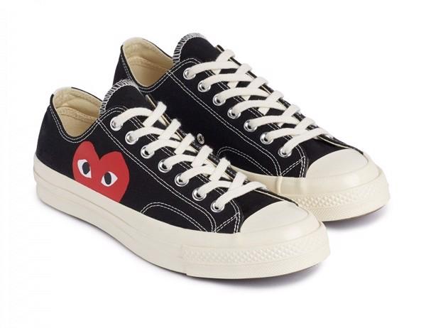 Giày Converse CDG đen thấp nam nữ CVC15