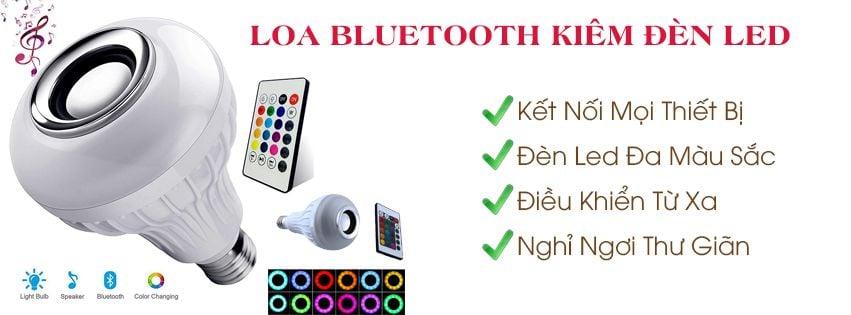 Loa Bluetooth Kiêm Đèn LED