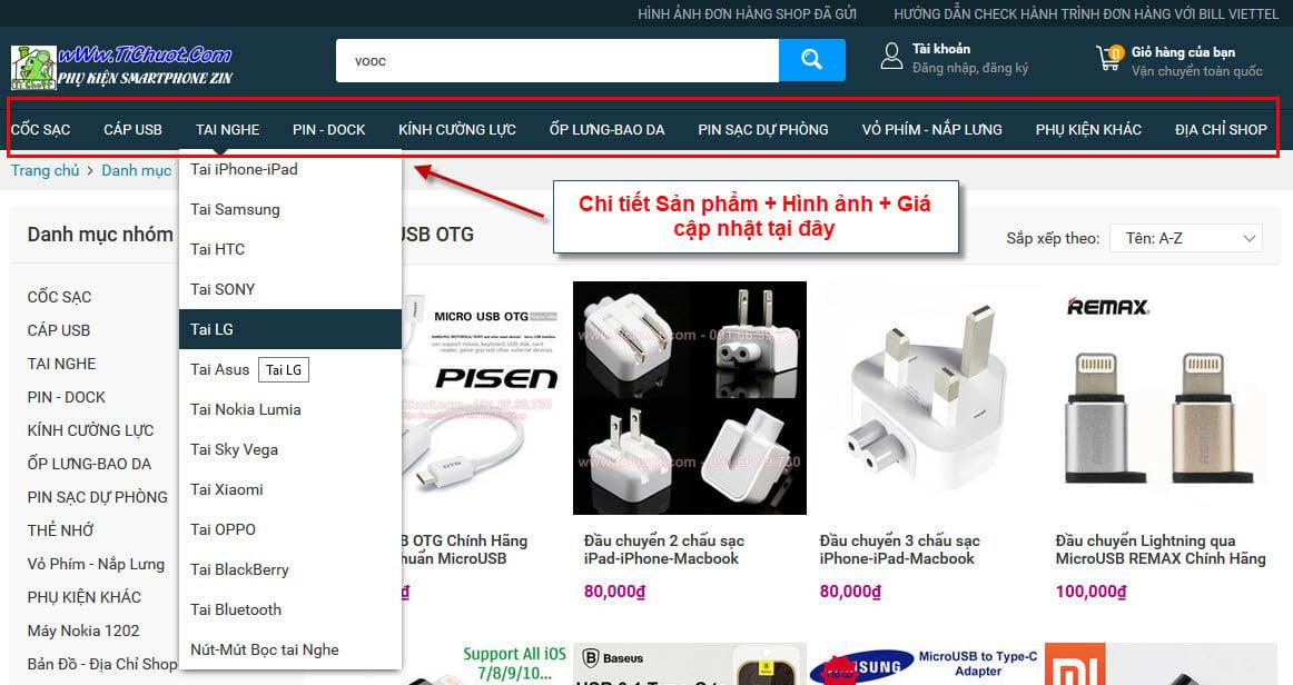 wWw.TiChuot.Com: Pin DP,Sạc,Cáp,Tai Nghe,Dock,Pin ZIN Chính Hãng:APPLE-SAMSUNG-SONY-HTC-LG-SKY-LUMIA