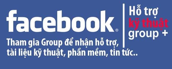 Group hỗ trợ kỹ thuật trên facebook