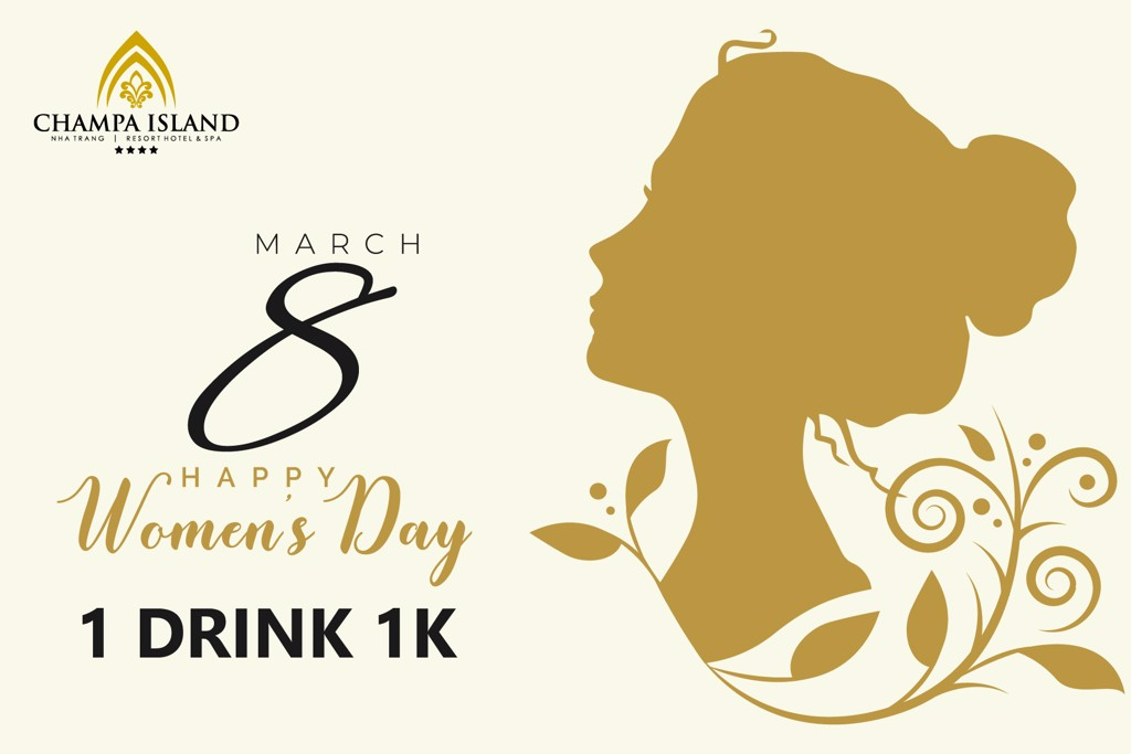 1000VND/1 DRINK ON INTERNATIONAL WOMAN'S DAY