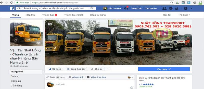 facebook chành xe đi Quảng Trị