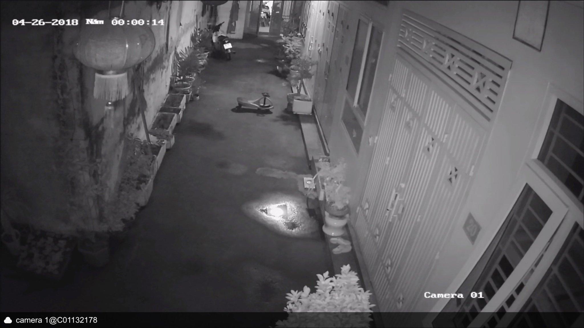 Hình ảnh ban đêm hồng ngoại camera Hikvison
