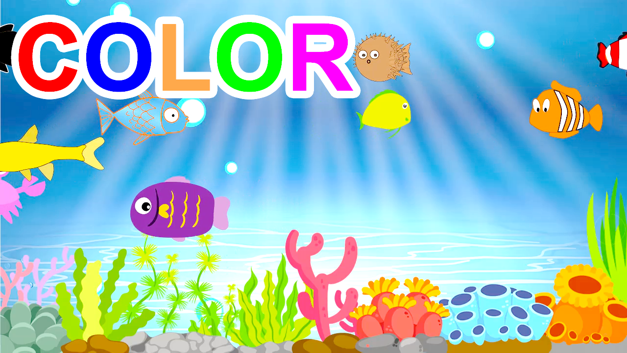 Learn Colors With Fish For Kids Children Toddlers
