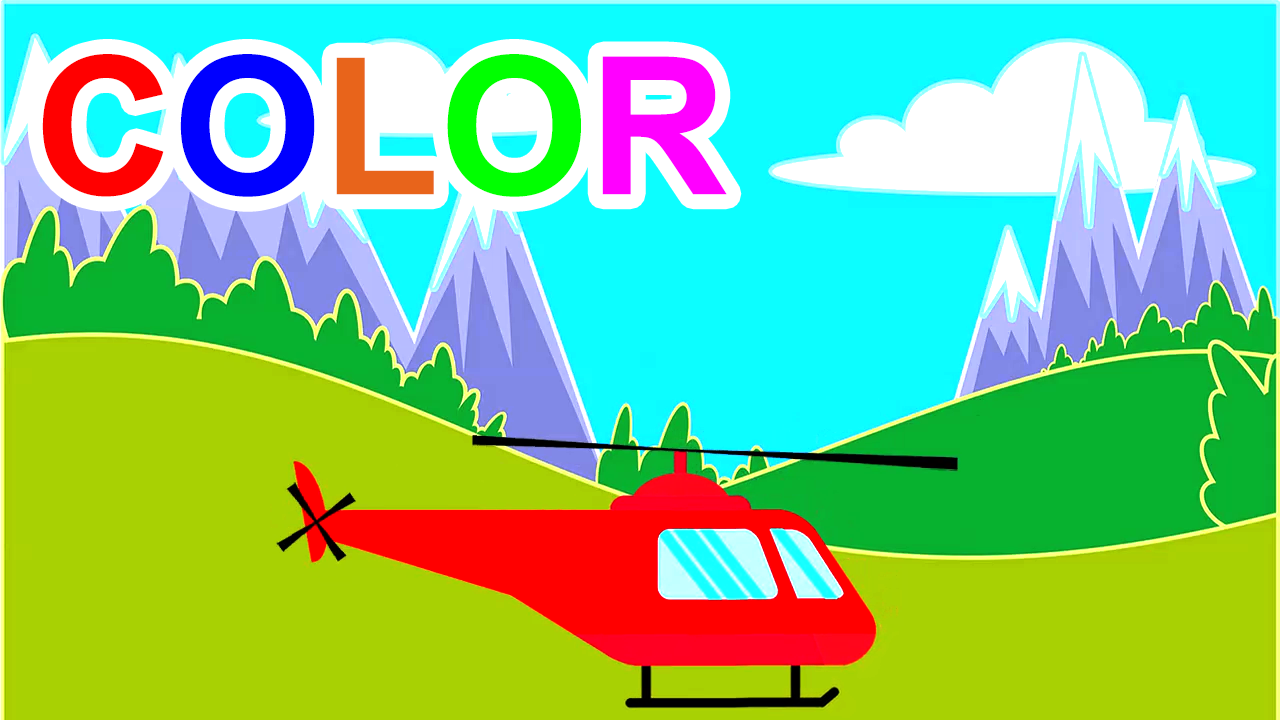 Learn Colors With Helicopters For Kids Children Toddlers