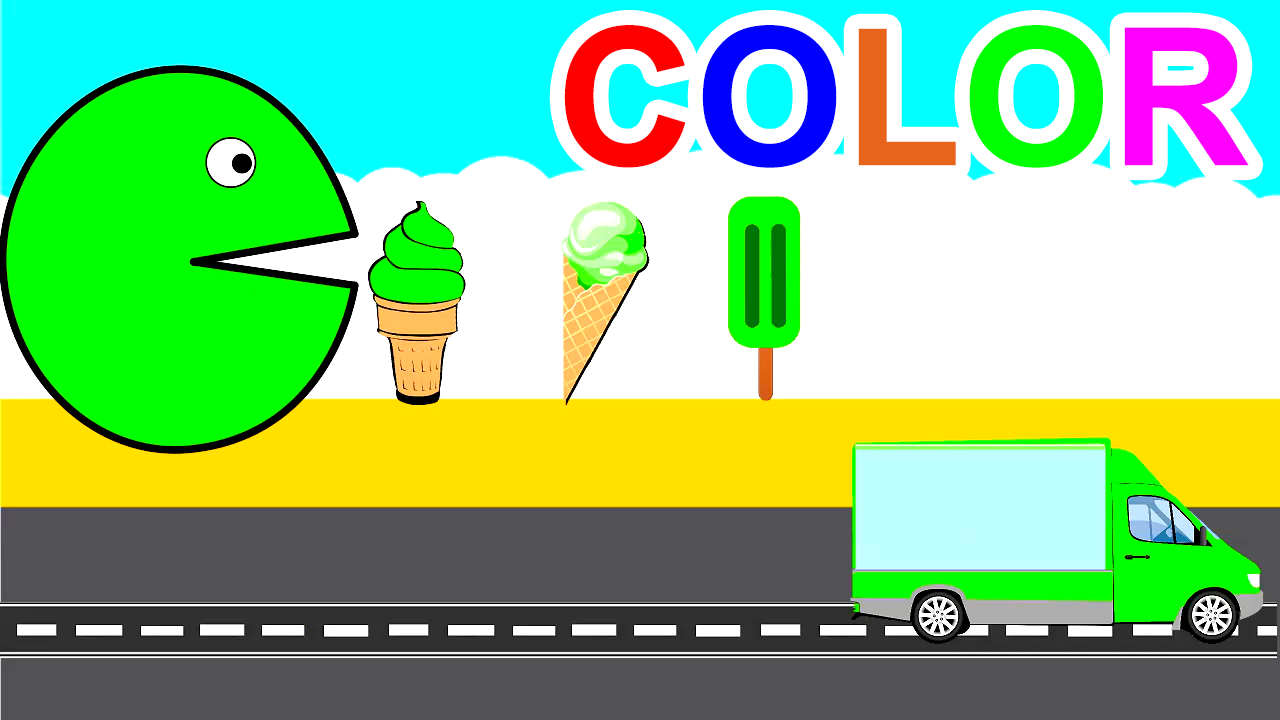 Learn Colors With Ice Cream For Kids Children Toddlers