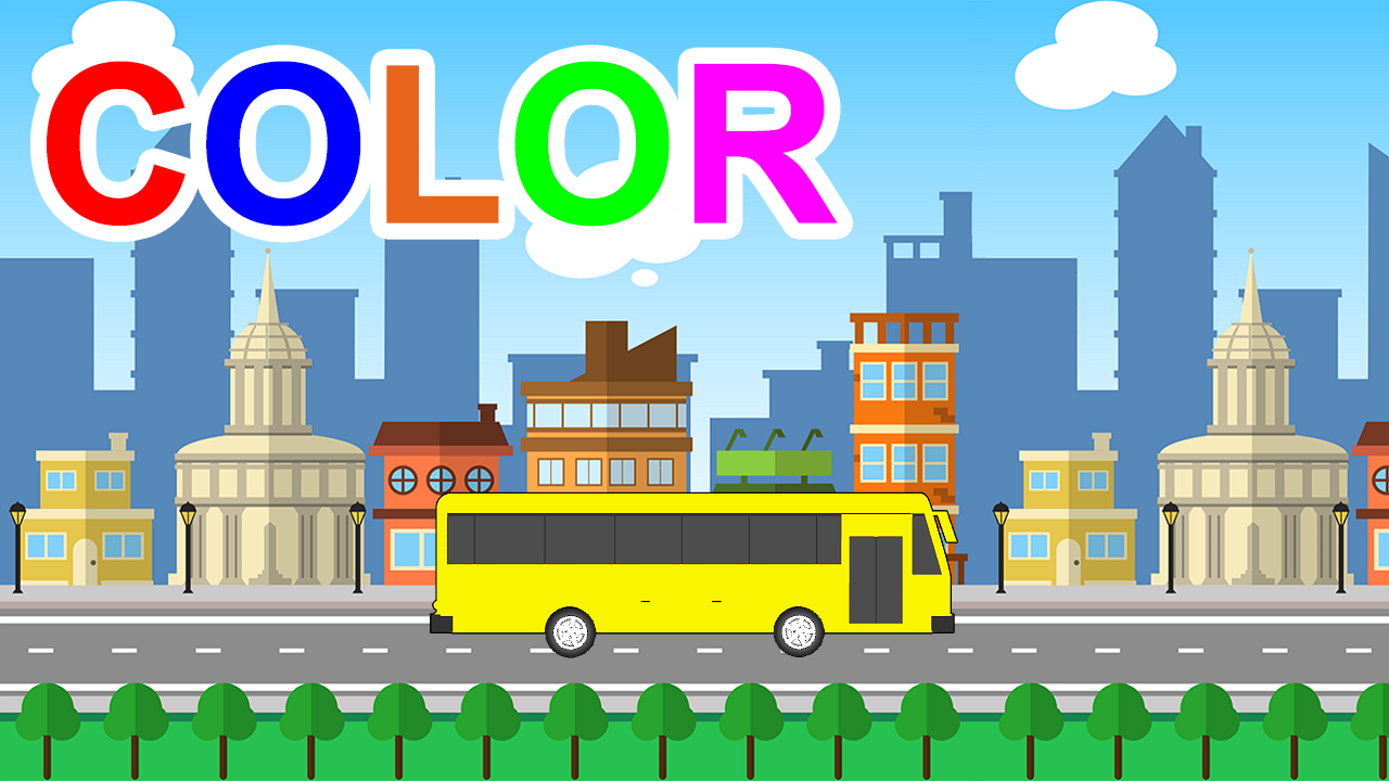 Learn Colors With School Bus For Kids Children Toddlers