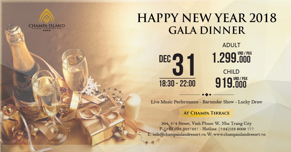 HAPPY NEW YEAR 2018 GALA DINNER
