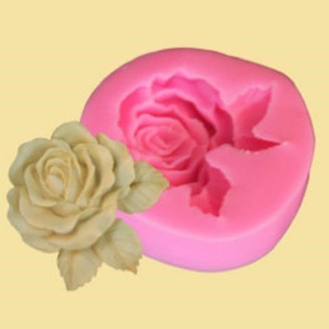Khuôn silicon làm bánh họa tiết hoa hồng