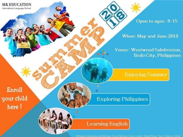 SUMMER CAMP 2018 - MK EDUCATION, PHILIPPINES