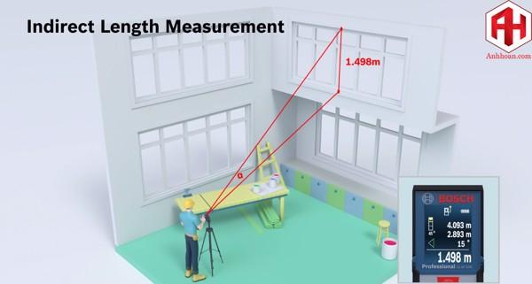 khả năng đo gián tiếp của thước laser bosch glm500