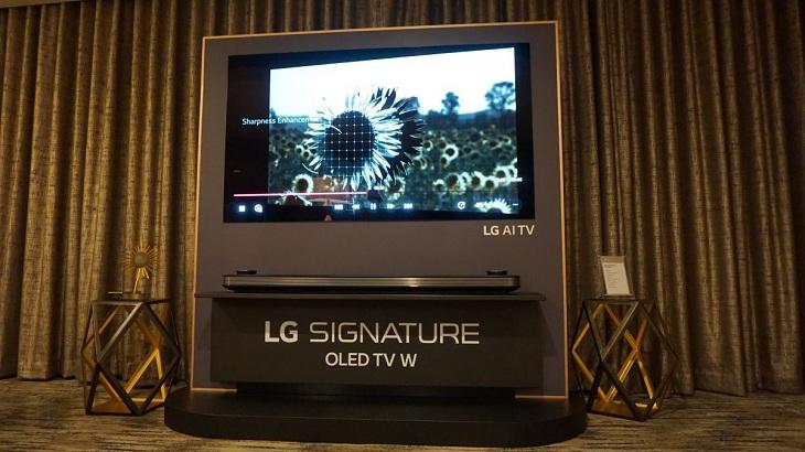 LG tiếp tục hé lộ siêu phẩm LG Signature OLED W8 siêu mỏng dán tường