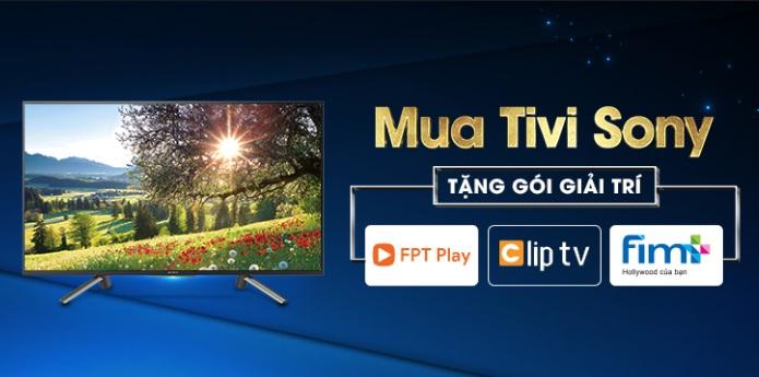 Tặng ngay Bộ ba giải trí ứng dụng đặc sắc khi mua TV Sony 2018