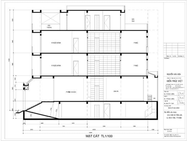 Nhà phố 3 lầu có thang máy, nhà phố 5mx18m