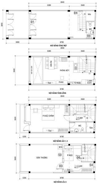 Nhà 4x9, nhà phố nhỏ xinh 4 tầng có lửng