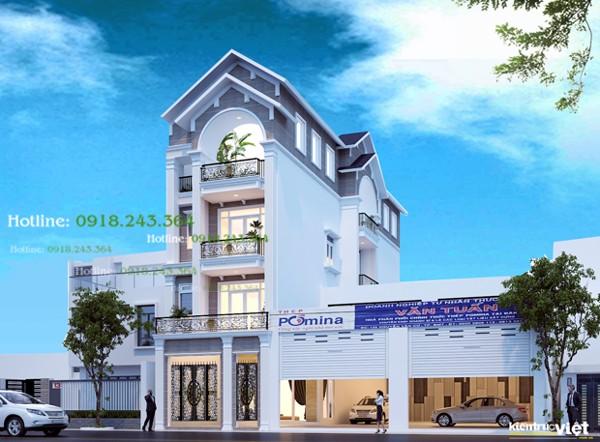 Phòng khách chính -Kiến trúc nhà phố 2 mặt tiền ngang 6m dài 20m