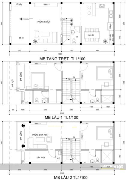 Thiết kế kiến trúc nhà 5mx12m, Nhà phố 2 lầu phong cách tân cổ điển, Hồ Chí Minh