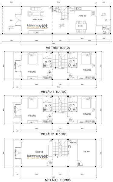 Thiết kế nhà phố bán cổ điển 4c5x16