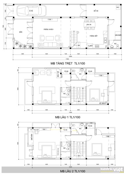 Thiết kế nhà phố 7x20, nhà phố vườn 4 tầng