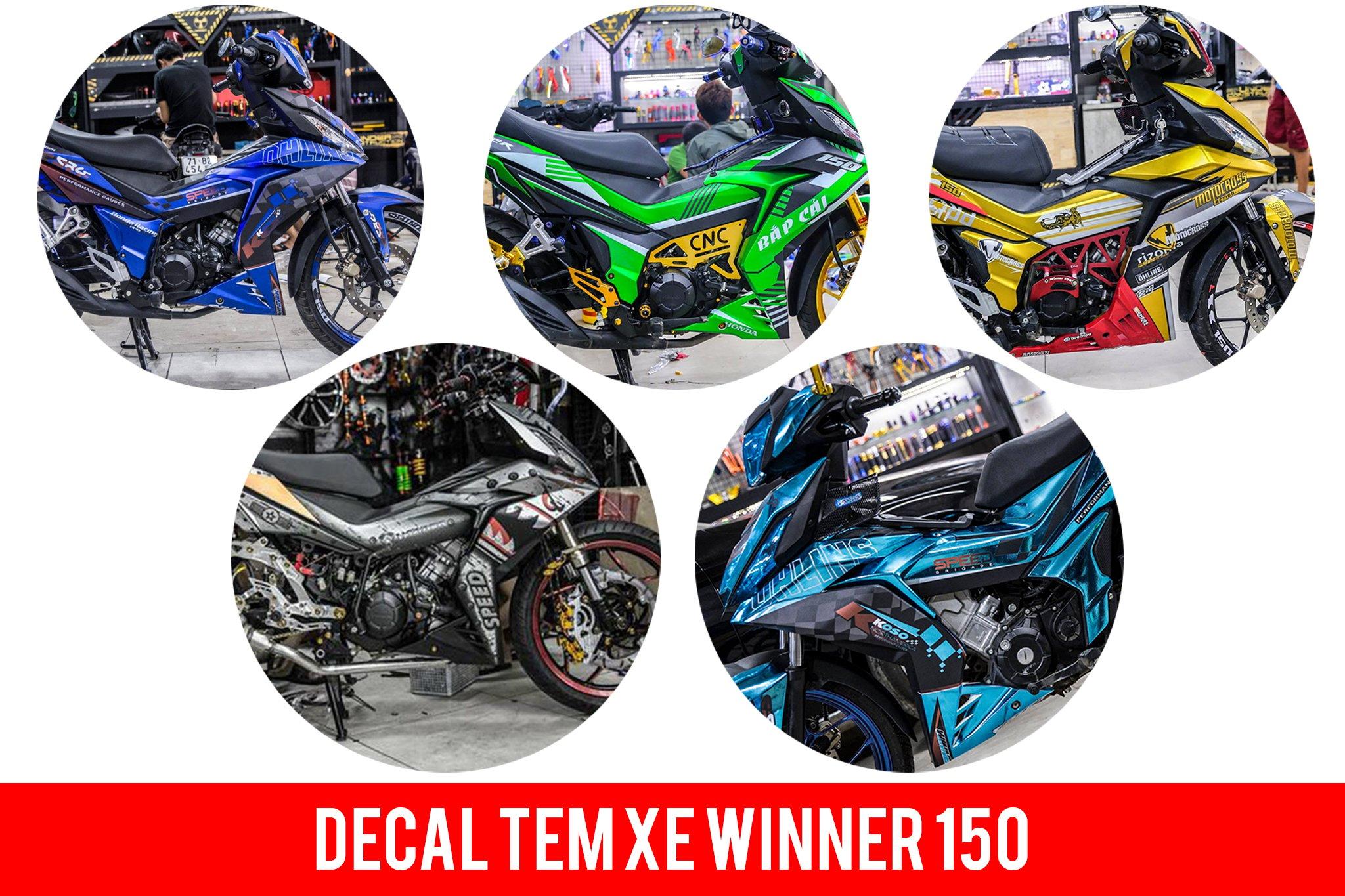 Tổng hợp các mẫu decal tem winner 150 mới nhất