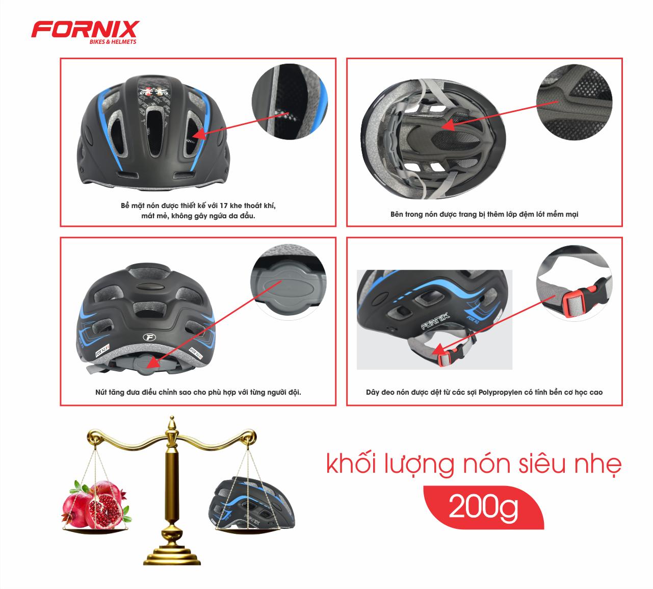 NÓN BẢO HIỂM FORNIX A02NM38