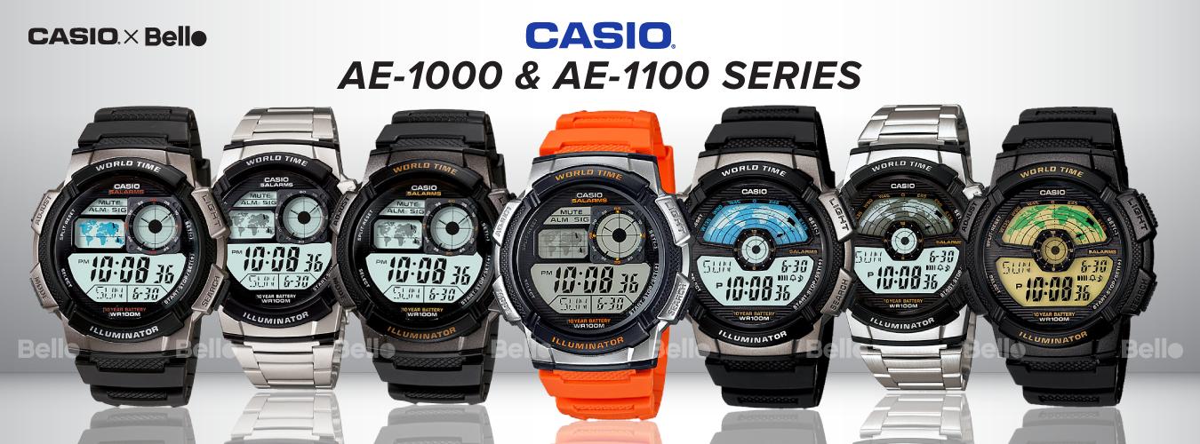 Casio Standard AE-1000 & AE-1100 Series
