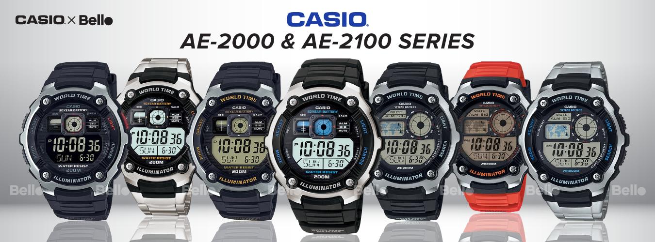 Casio Standard AE-2000 & AE-2100 Series