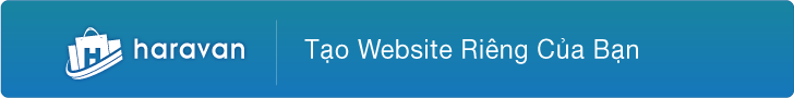 Tạo website cùng với Haravan