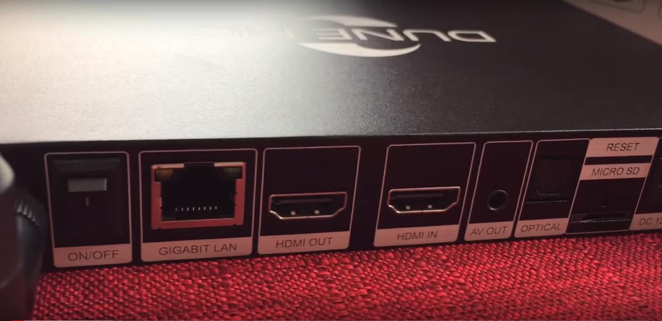Hình cổng kết nối Dune HD Pro 4K