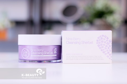 Review: Kem tẩy trang Lila Lily Nine Berry Cleansing Sherbet