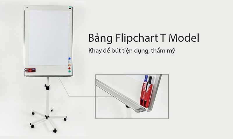 bảng flipchart t model khay để bút
