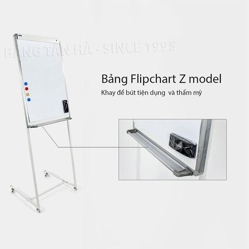 Bảng Flipchart Zebra - Khay để bút thẩm mỹ