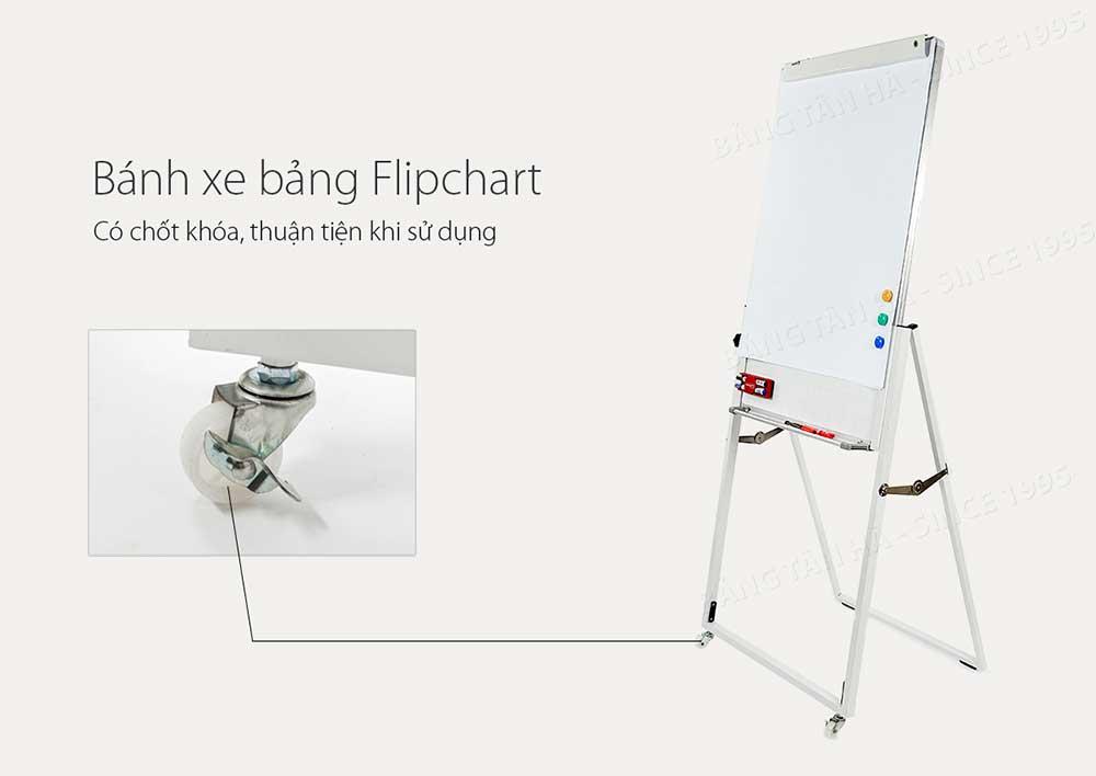 Bảng Flipchart Bánh xe dễ dàng di chuyển