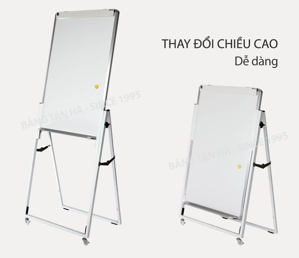 bảng flipchart dễ dàng thay đổi chiều cao