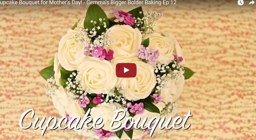 Bó hoa xinh đẹp từ cupcakes