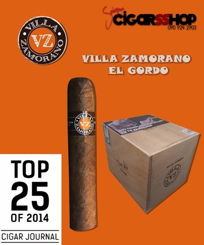 Xì gà VILLA ZAMORANO EL GORDO – TOP 25 OF 2014 CIGAR JOURNAL