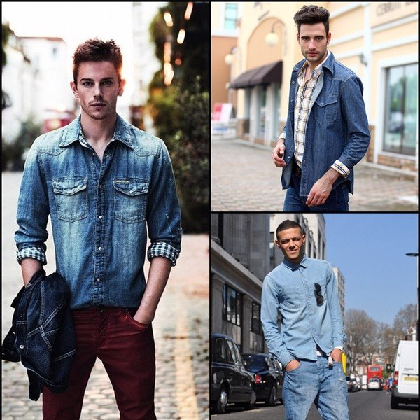 jean on jean outfits men