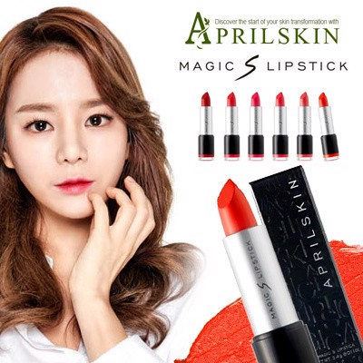 Son môi lì April Skin magic màu đỏ