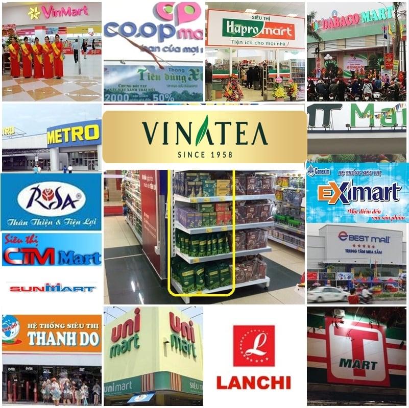 Danh sách Siêu thị đang phân phối sản phẩm trà Vinatea