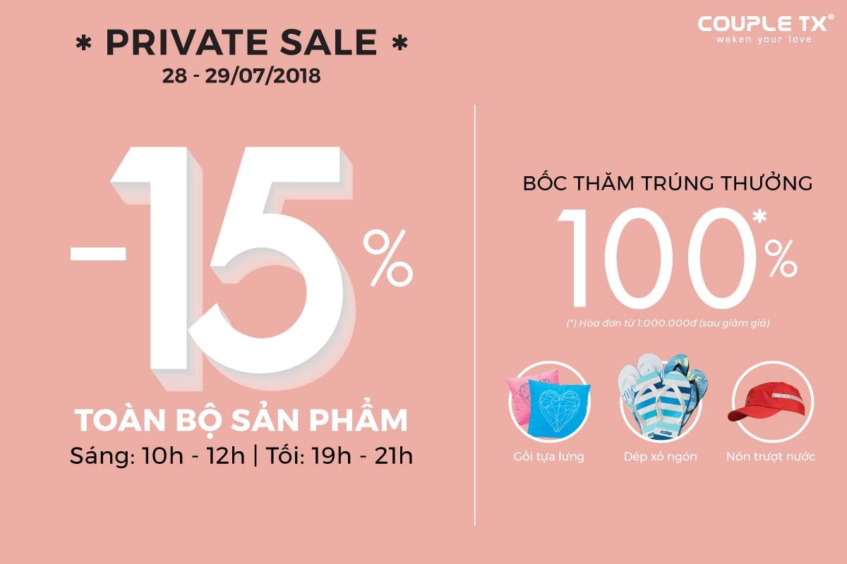 PRIVATE SALE - GIẢM TỪ 15% TẤT CẢ SẢN PHẨM