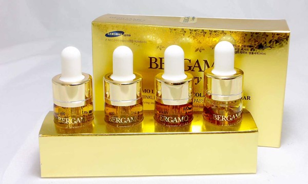 Tinh chất Bergamo Luxury Gold Caviar Vitamin Hộp 4 ống 3
