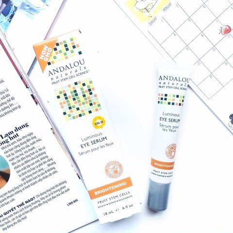 Review Kem mắt Luminous - Andalou Naturals