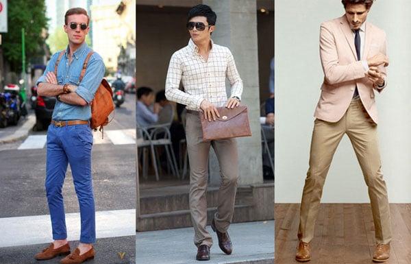 Chọn đồ diện với giày da nam màu nâu đẹp phong cách