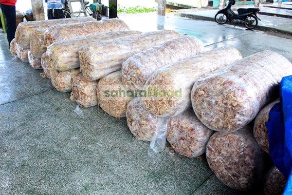 Mực khô ngon được thu mua trực tiếp tại Cảng