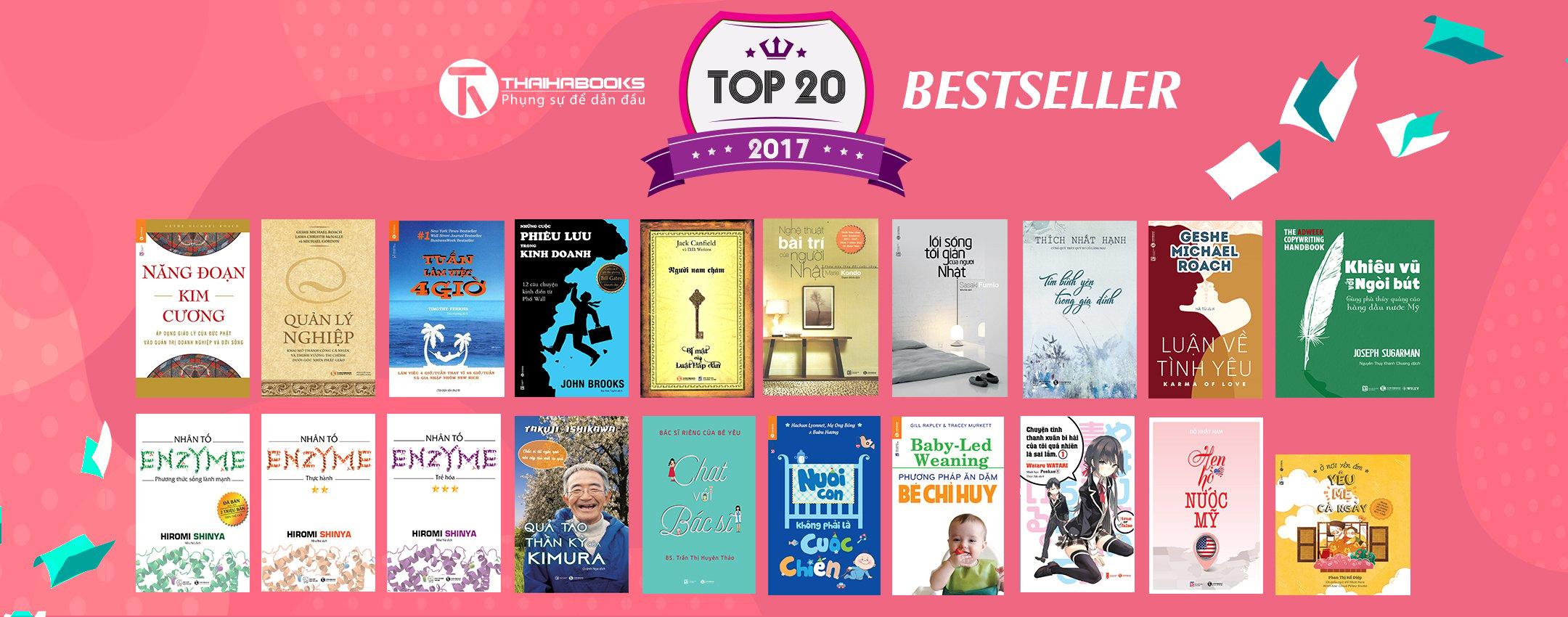 THAIHABOOKS - TOP 20 ĐẦU SÁCH BÁN CHẠY 2017