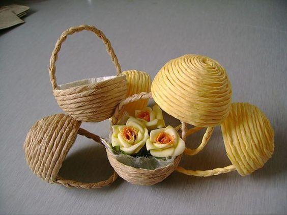 THẾ GIỚI TÍ HON: Hướng dẫn làm giỏ hoa siêu cute