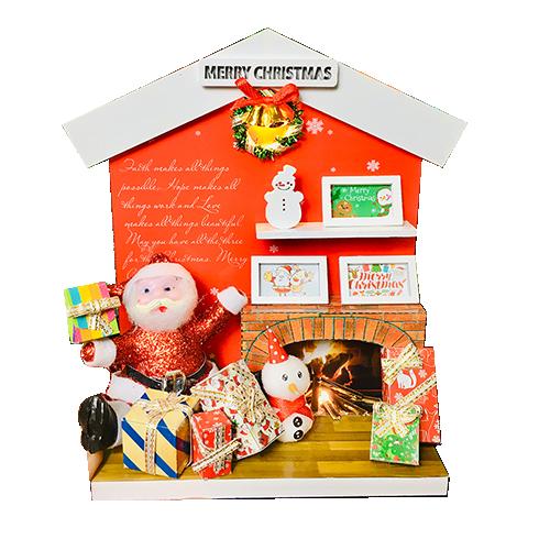 Hướng Dẫn Làm Mô Hình Gỗ DIY Noel Để Bàn Mẫu Santa Claus