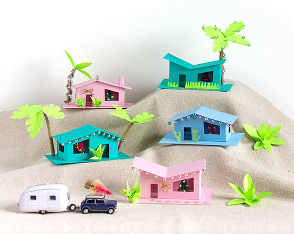 Cách làm nhà mô hình bằng giấy nhỏ xinh