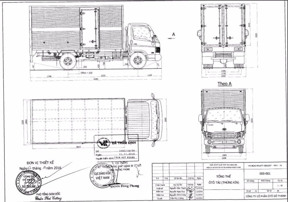 Bản vẽ thùng kín HD65 TKH1